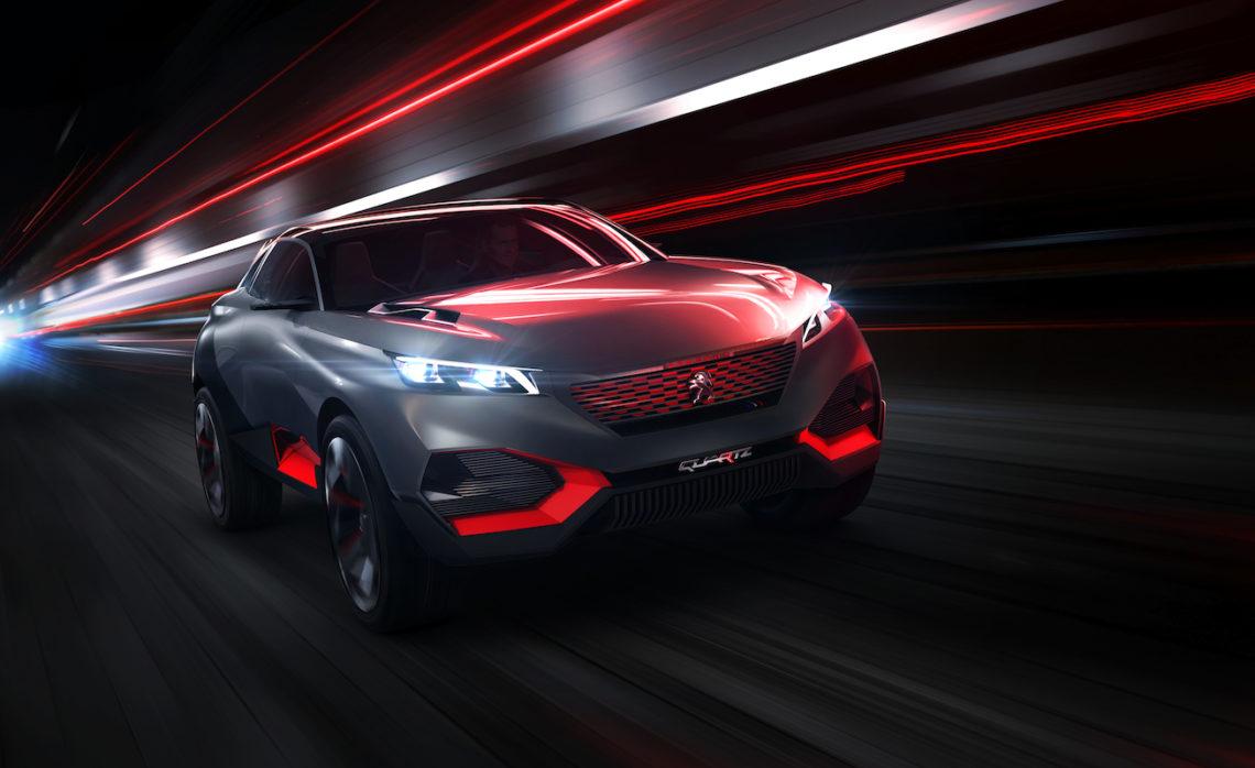 Das Peugeot Concept Car Quartz: mit 500 PS durch die Zukunft.