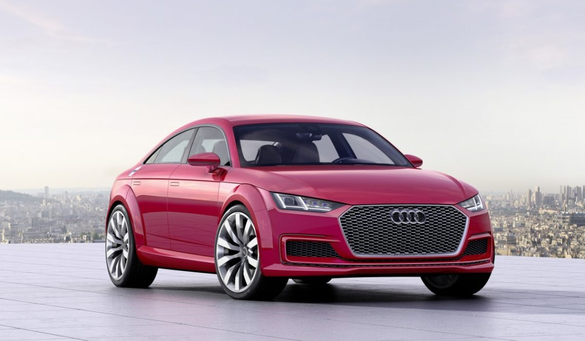 Audi TT Sportback Concept Rot Front Official