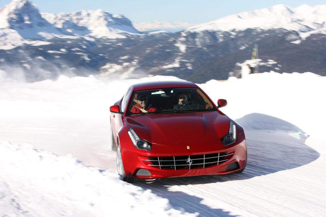 Der Ferrari FF im Drift
