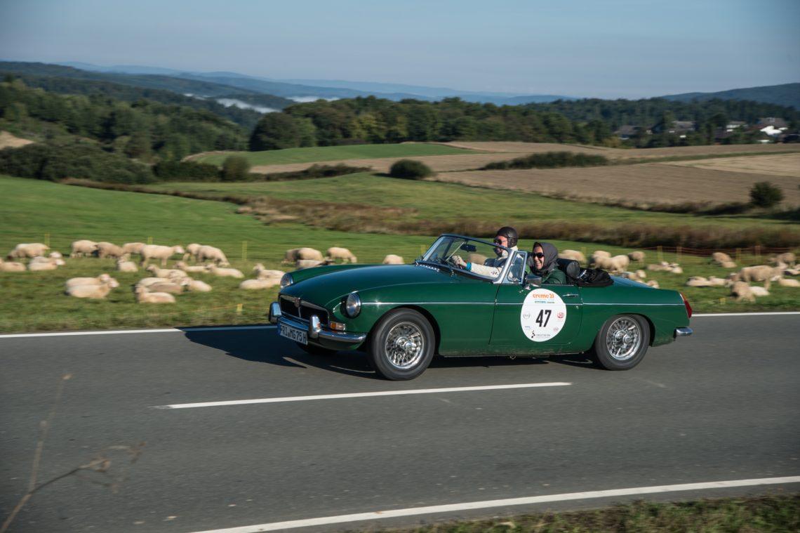 Die Creme-21-Youngtimer-Rallye mit MG