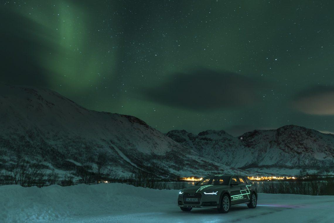 Audi A6 Allroad am Polarkreis