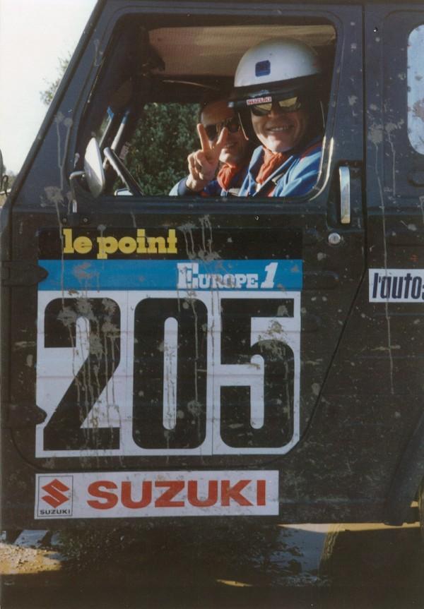 Delta4x4 Gründer Josef Loder und Teamkollege Alois Schneck im Suzuki LJ 80 an der RallyeDakar 1982