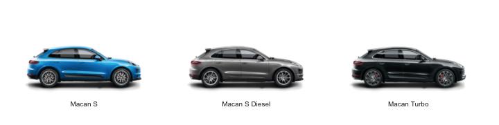 Porsche Macan Modellübersicht