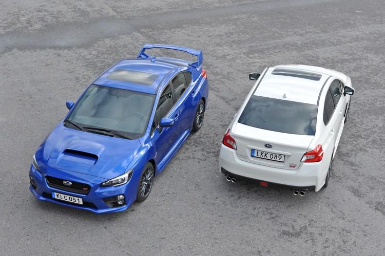 4x4Schweiz. Subaru WRX STI 2014 mit und ohne Flügel