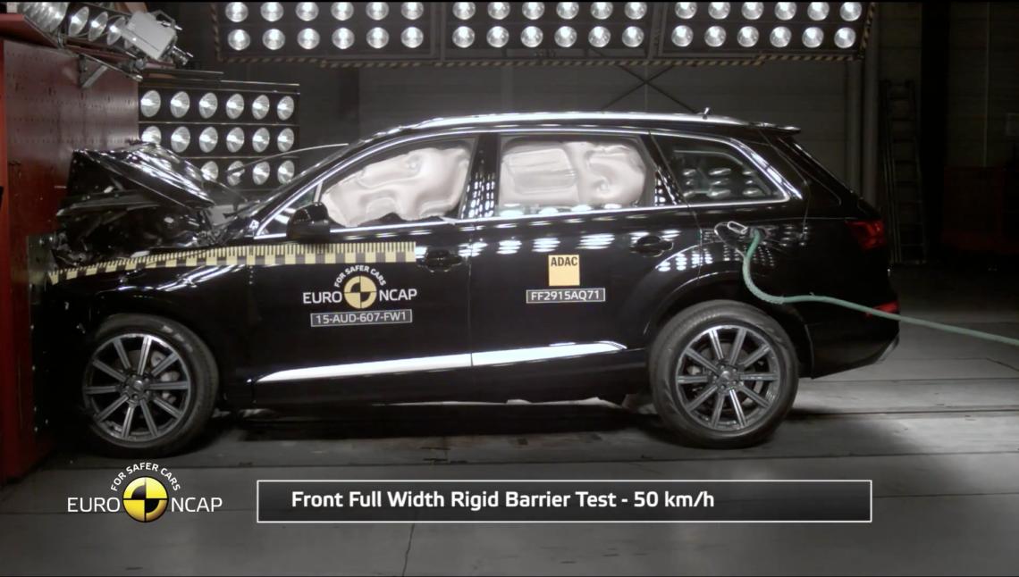Sieben Mal fünf Sterne im EuroNCAP-Crashtest 2015