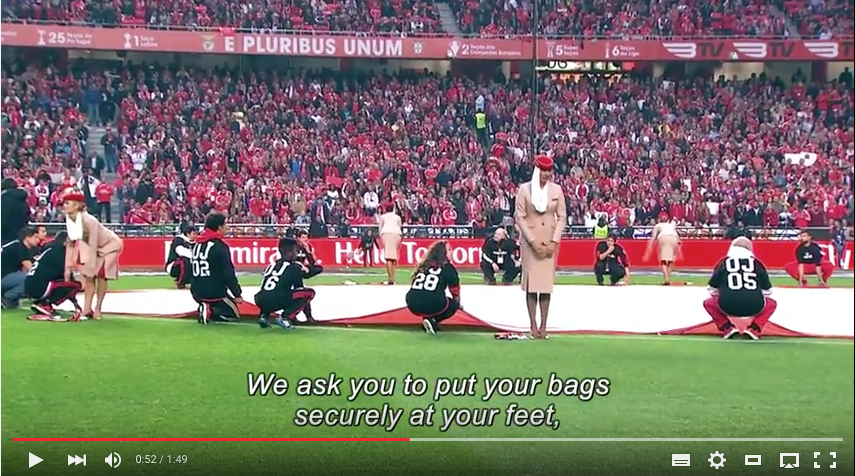 Video: Emirates Crew begeistert 65'000 Benfica Fans