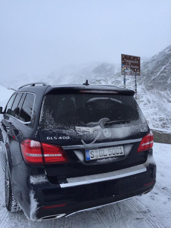 4x4Schweiz-Fahrbericht: Mercedes GLS 4Matic,  Hochgurgl, Austria 2015, Passhöhe Timmelsjoch