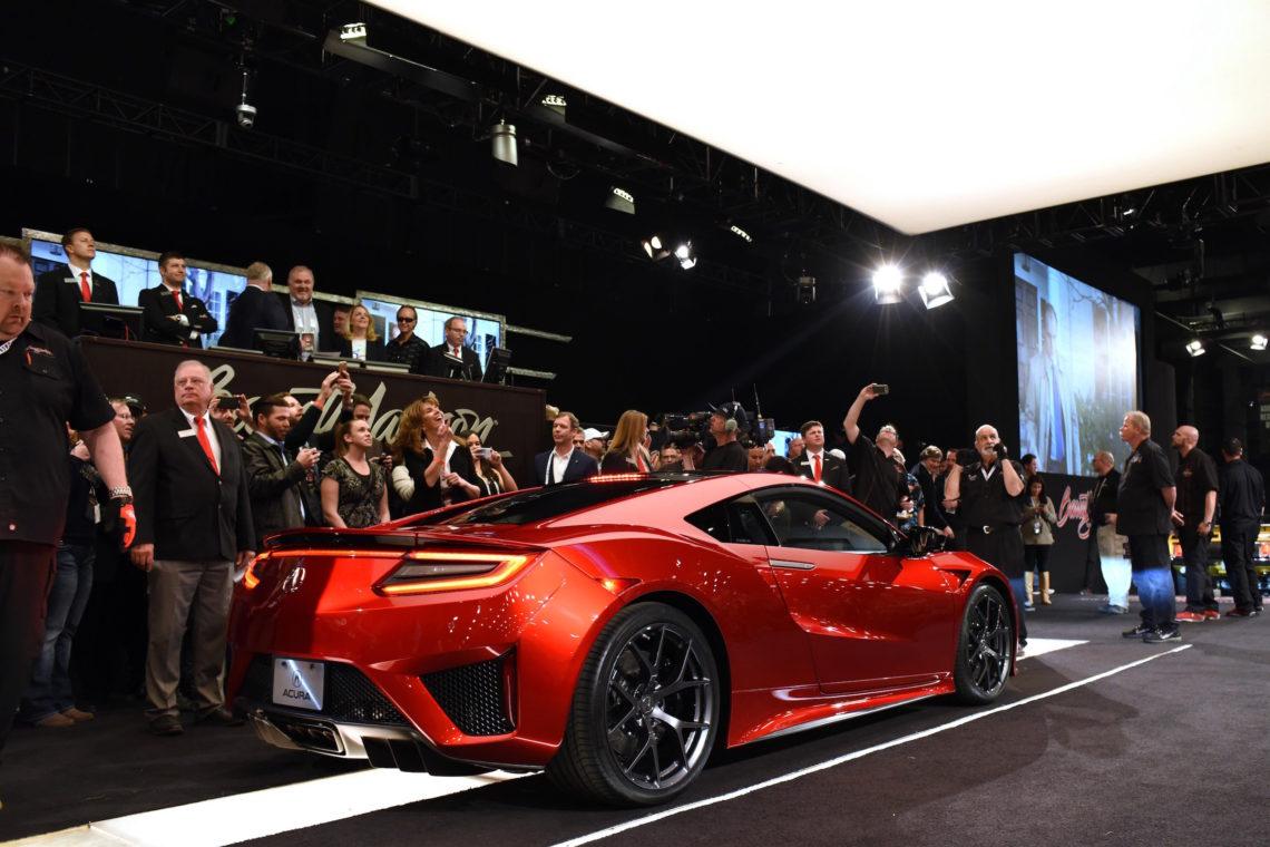Erstes Serienexemplar des Honda NSX zum Rekordpreis versteigert