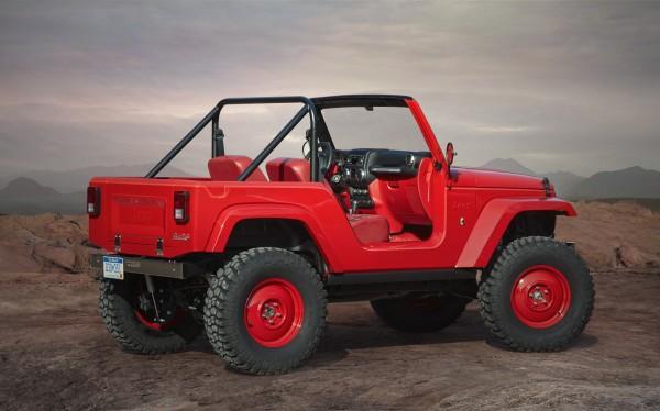 4x4Schweiz-News: Jeep Studie Short Cut, eine Hommage an den Jeep-Klassiker CJ-5, Heckansicht
