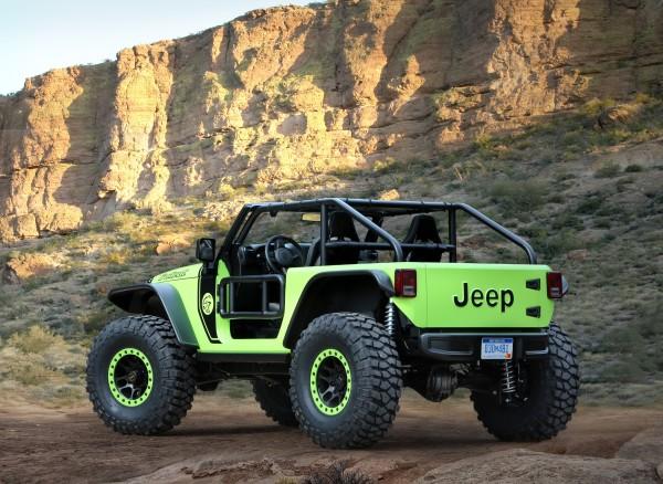 4x4Schweiz-News: Jeep Studie Trailcat, die wohl spektakulärste Studie seit langem von Jeep, Heckansicht