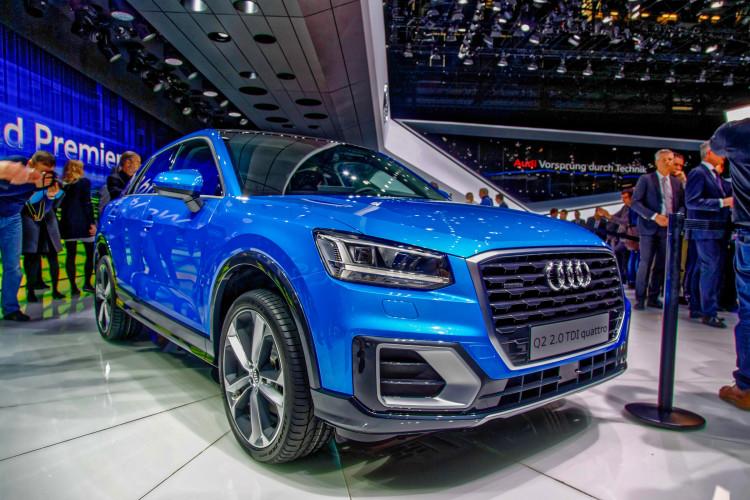 4x4Schweiz-News: Autosalon Genf 2016,  Audi Q2 Weltpremiere, Frontansicht