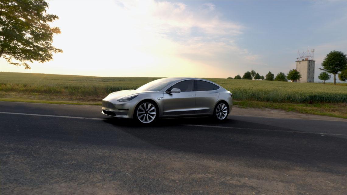 Tesla Model 3 wurde heute Nacht enthüllt.