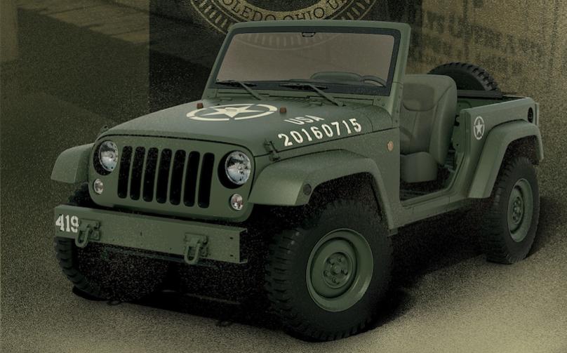 Willys Enkel steht stramm: Jeep Wrangler 75th Salute