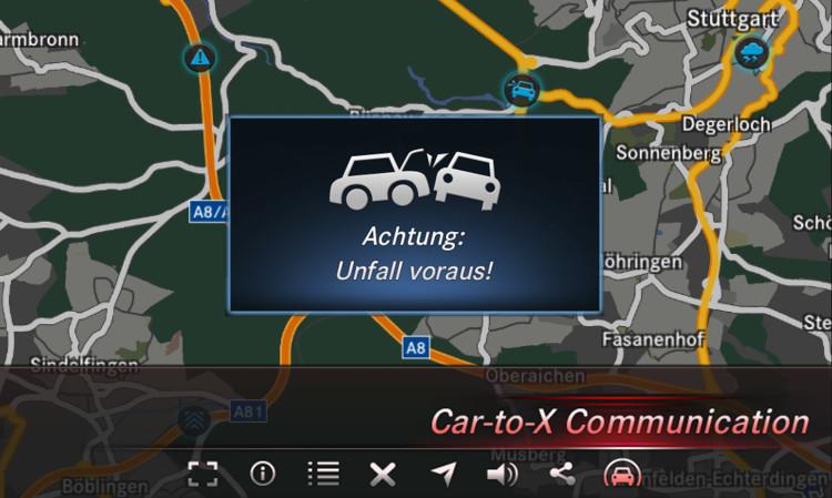 4x4Schweiz-Report: Car-to-X in Mercedes-Benz Fahrzeugen: Achtung Unfallgefahr voraus