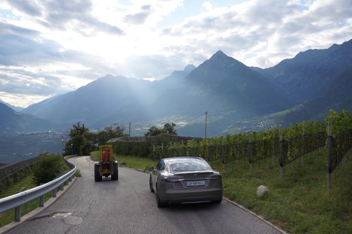 Von Zürich nach Meran mit dem Tesla Model S P85D