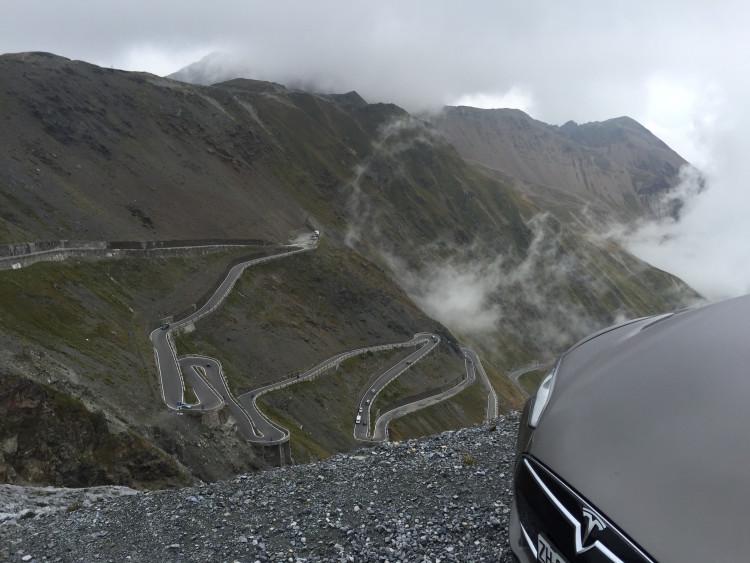Tesla Model S Roadtrip 2015 Stilfserjoch1