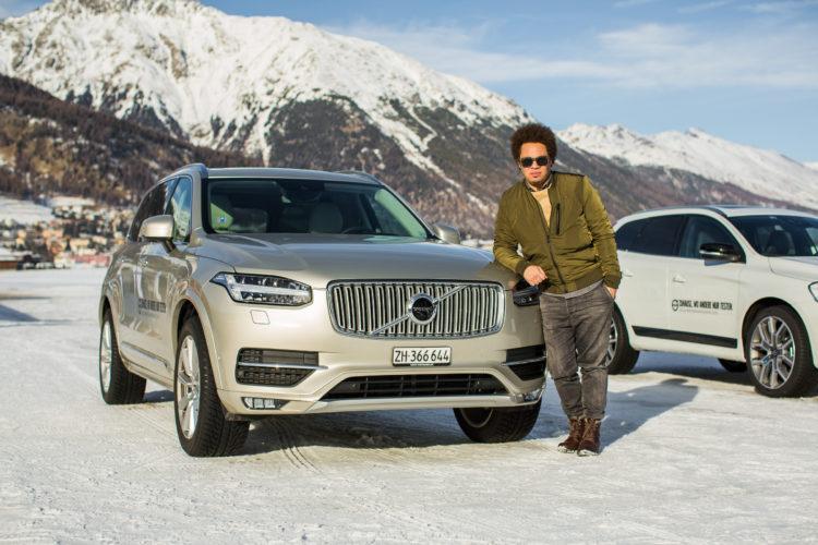 Volvo Winterfahrtraining zu gewinnen. Marc Sway, Markenbotschafter von Volvo
