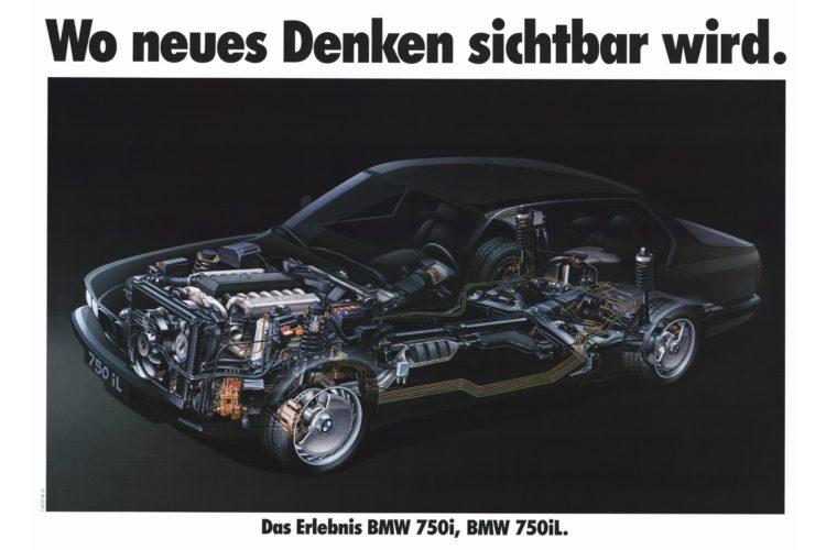 Werbung für den BMW 750i aus dem Jahr 1987