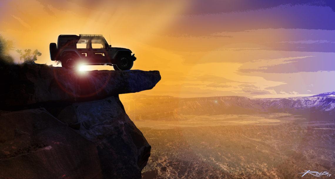 Jeep-Studien, 7 auf einen Streich für Moab