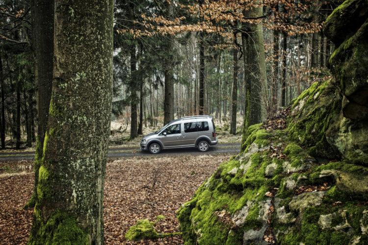 4x4Schweiz-Test: VW Caddy 4Motion Offroad im Wald