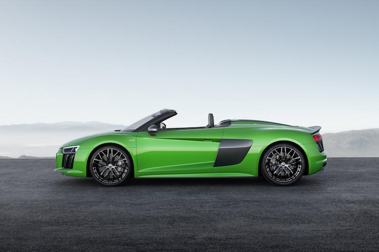 Grün, schnell, quattro: Der Audi R8 Spyder V10 plus