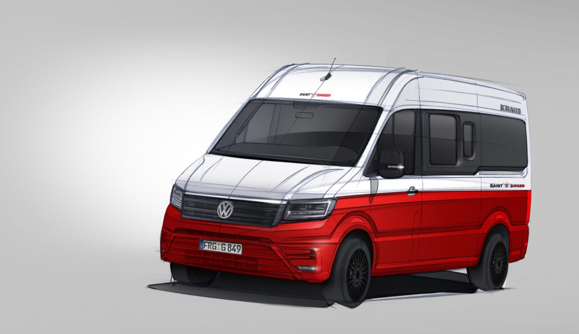 Knaus-Reisemobil auf VW Crafter Basis