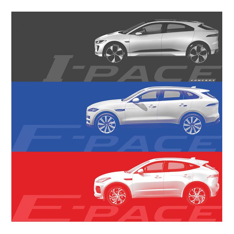 """Die Jaguar """"PACE""""-Familie; F-PACE, E-PACE UND I-PACE (Concept)"""