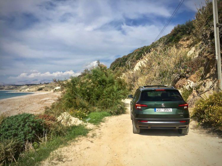 4x4Schweiz-Fahrbericht: Der neue Skoda Karoq 4x4 2017 bei einer ersten Testfahrt auf Sizilien: Offroad Beach Road