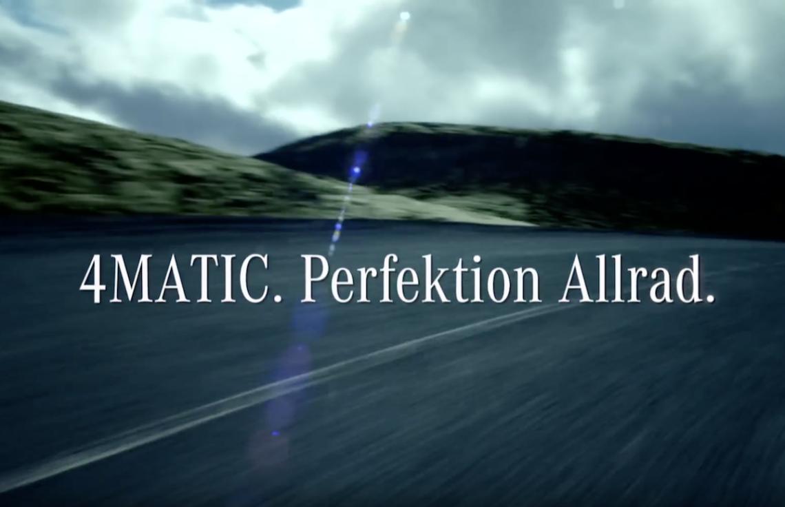 4MATIC von Mercedes-Benz – Hightech für Personenwagen