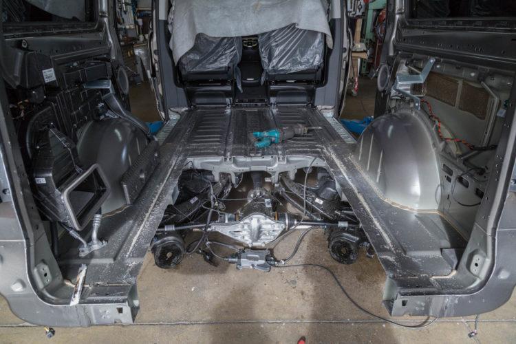 Kirchhoff Mobility AG: Ausschnitt Boden Mercedes-Benz V-Klasse