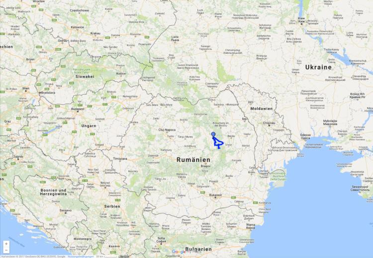 Offroad in den Ostkarpaten, Siebenbürgen, Rumänien: Tour-Karte