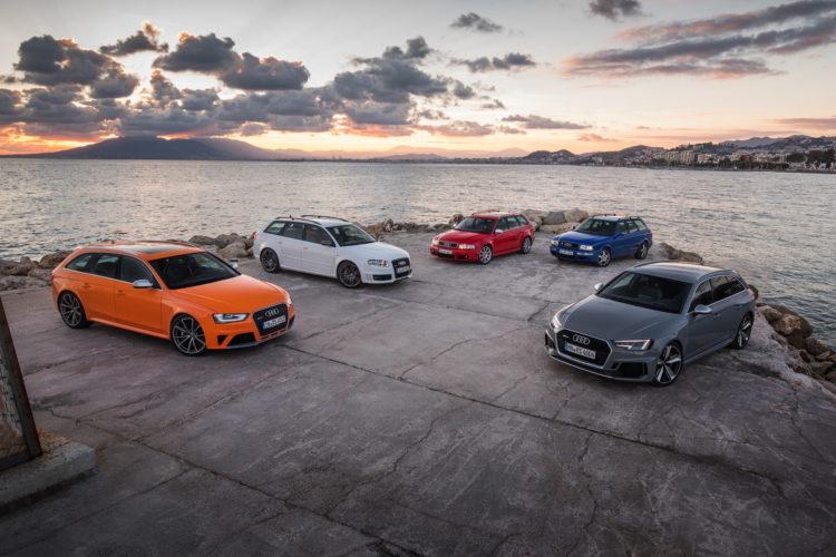 Audi RS 4 Avant und Urvater Audi RS2