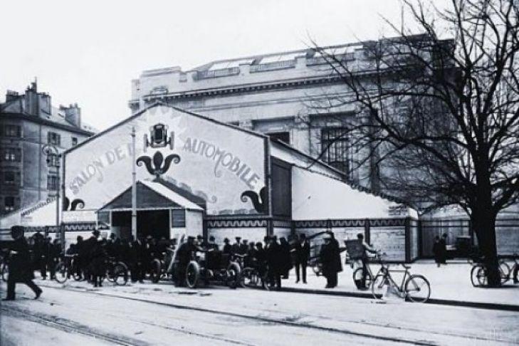 Ausstellungshalle des ersten Genfer Autosalon