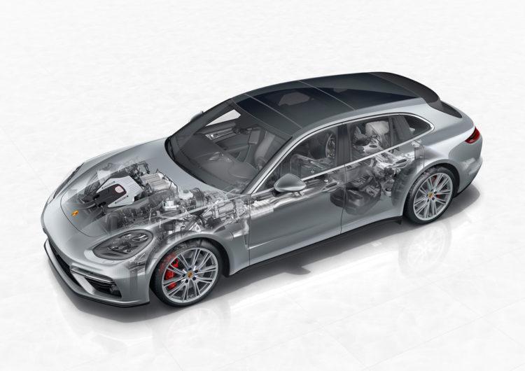 2017: Porsche Panamera Turbo Sport Turismo: PTM mit hydraulisch betätigter Lamellenkupplung