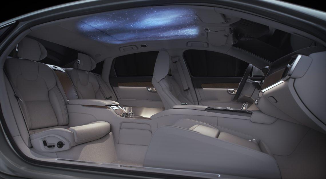 Volvo S90 Ambience mit Polarlicht fürs Auto