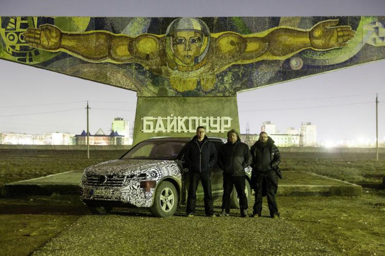 Das Kosmodrom in Baikonur im Süden Kasachstans