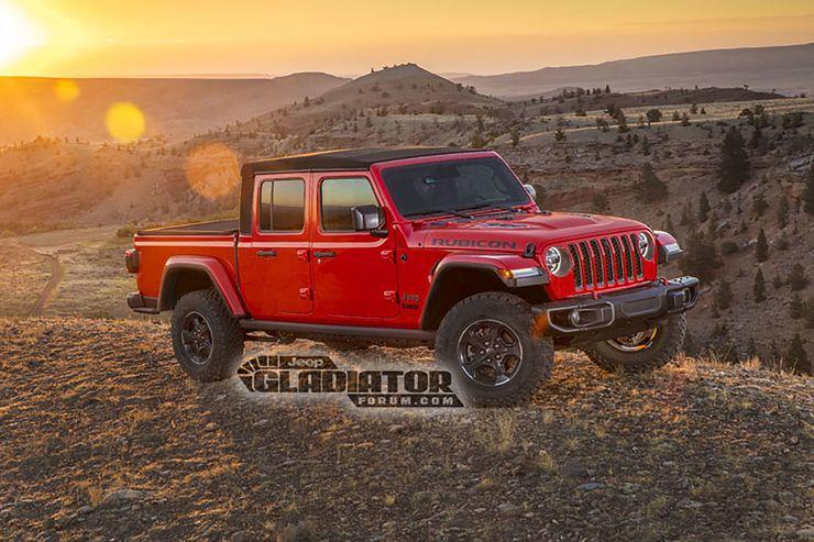 Geleaktes Foto auf dem Jeep Gladiator-Forum