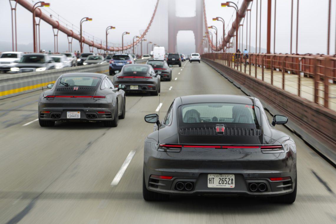 Auf Erprobungsfahrt mit dem neuen Porsche 911