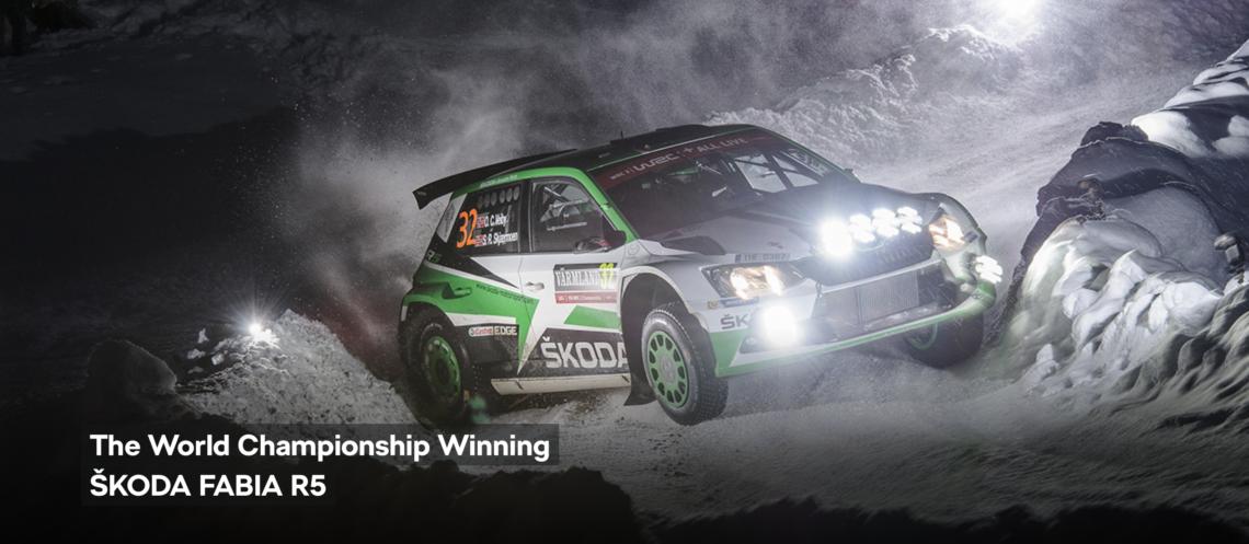 Škoda dominiert die WRC2 mit dem Škoda Fabia R5