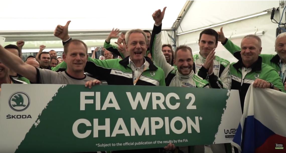 Skoda Motorsport WRC2 Weltmeister Christian Strube, Jan Kopecký, Pavel Dresler,