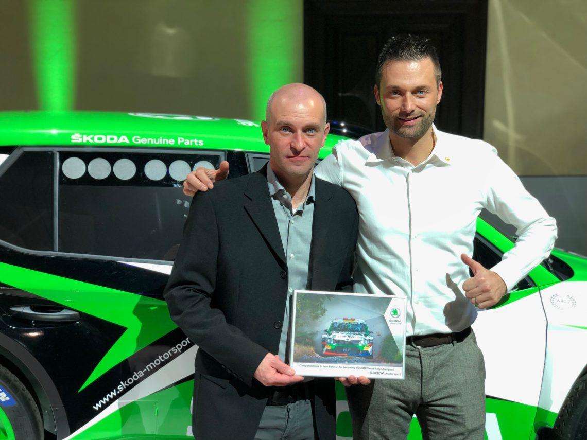 Ivan Ballinari gewinnt die Schweizer Rallye-Meisterschaft auf dem Skoda Fabia R5