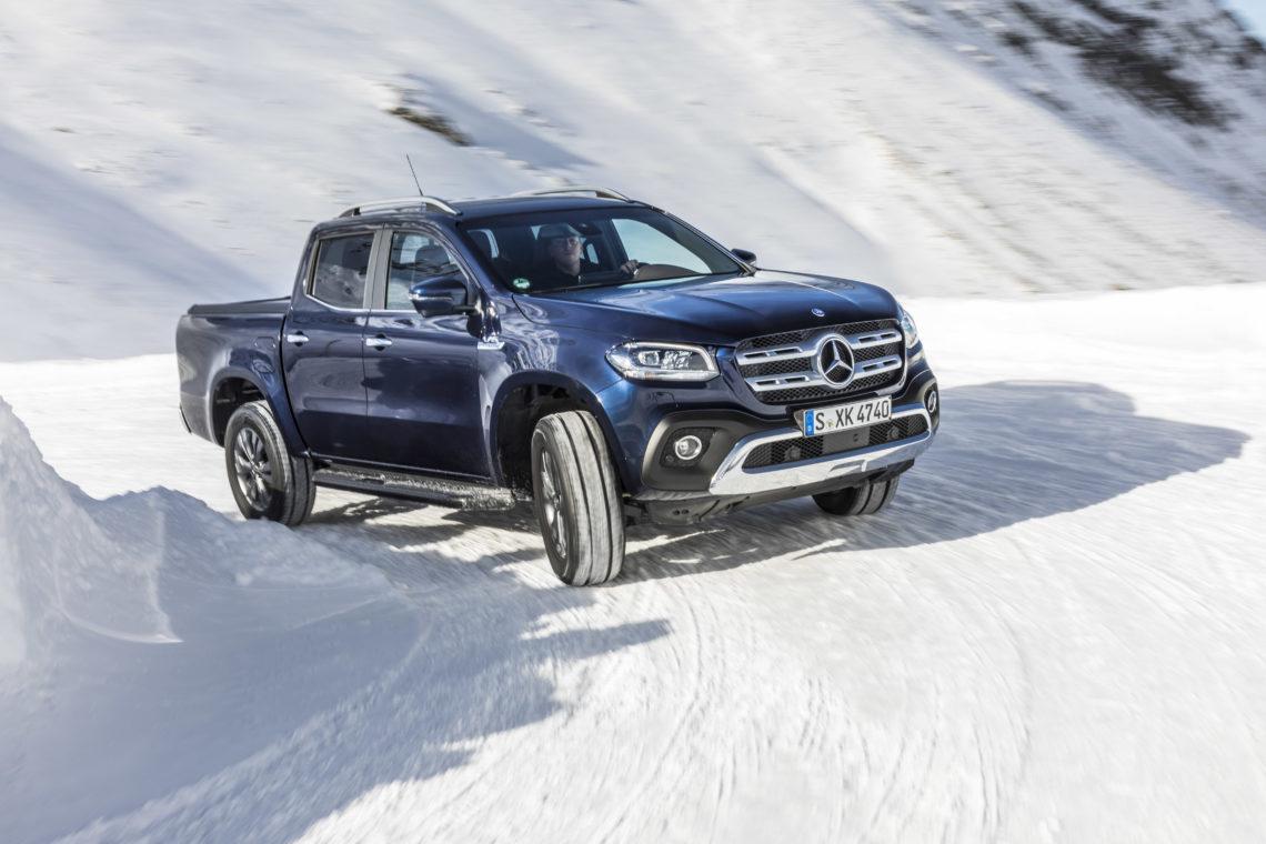 Fahrbericht Mercedes-Benz X 350 d: X-tra-Klasse auf Eis und Schnee