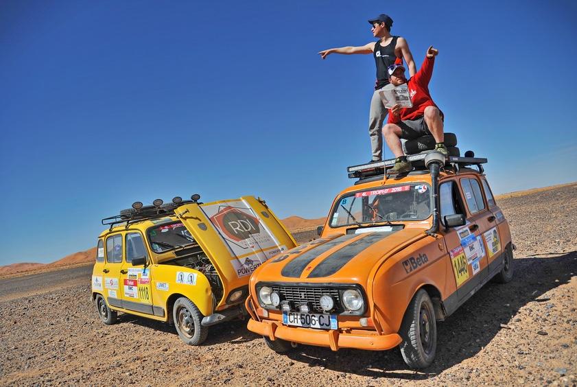 Raid 4L Trophy: die grösste Offroad-Rallye für Studenten im legendären Renault R4