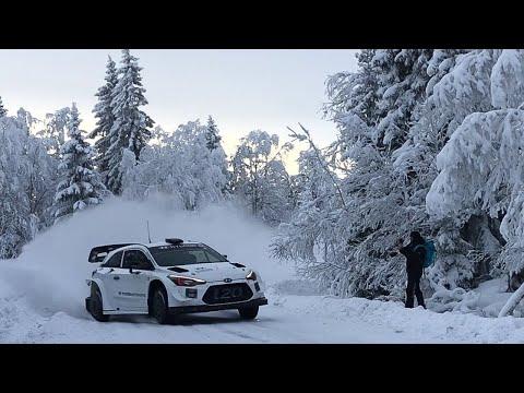 Das Hyundai WRC-Werksteam bereitet sich auf die Rallye Schweden vor