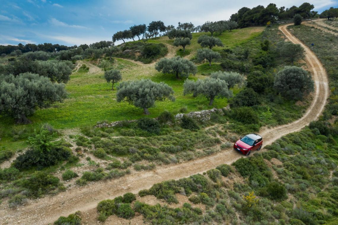 Der neue Range Rover Evoque MY2020 auf Testfahrt in Griechenland: Offroad
