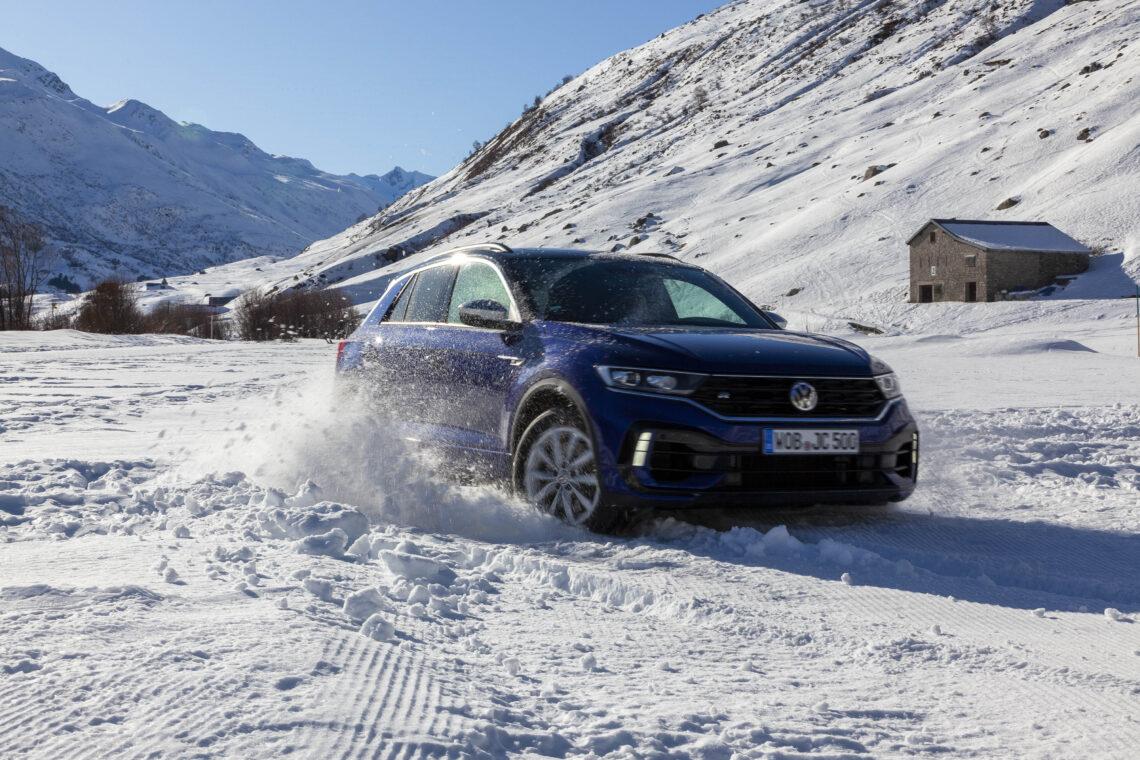 VW Winterfahrtraining Andermatt: VW T-Roc Ron Ice