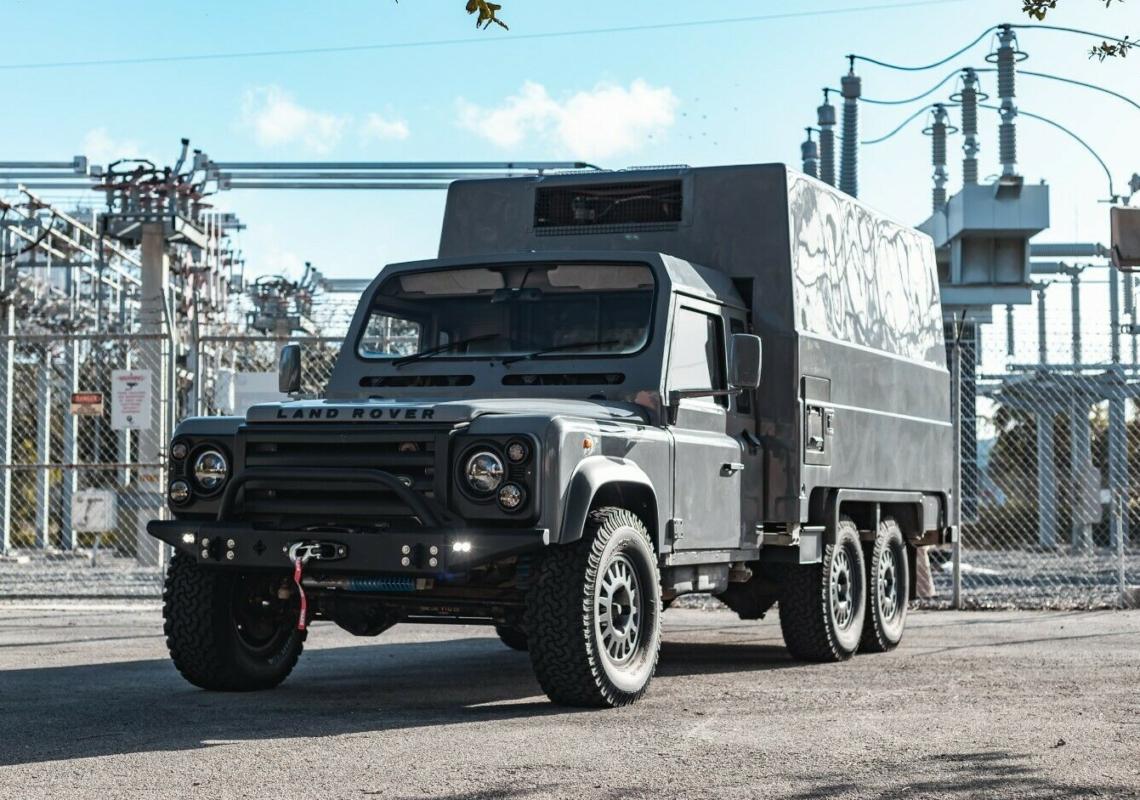 Auf eBay entdeckt: Land Rover Defender 110 6×6 Camper Overlander