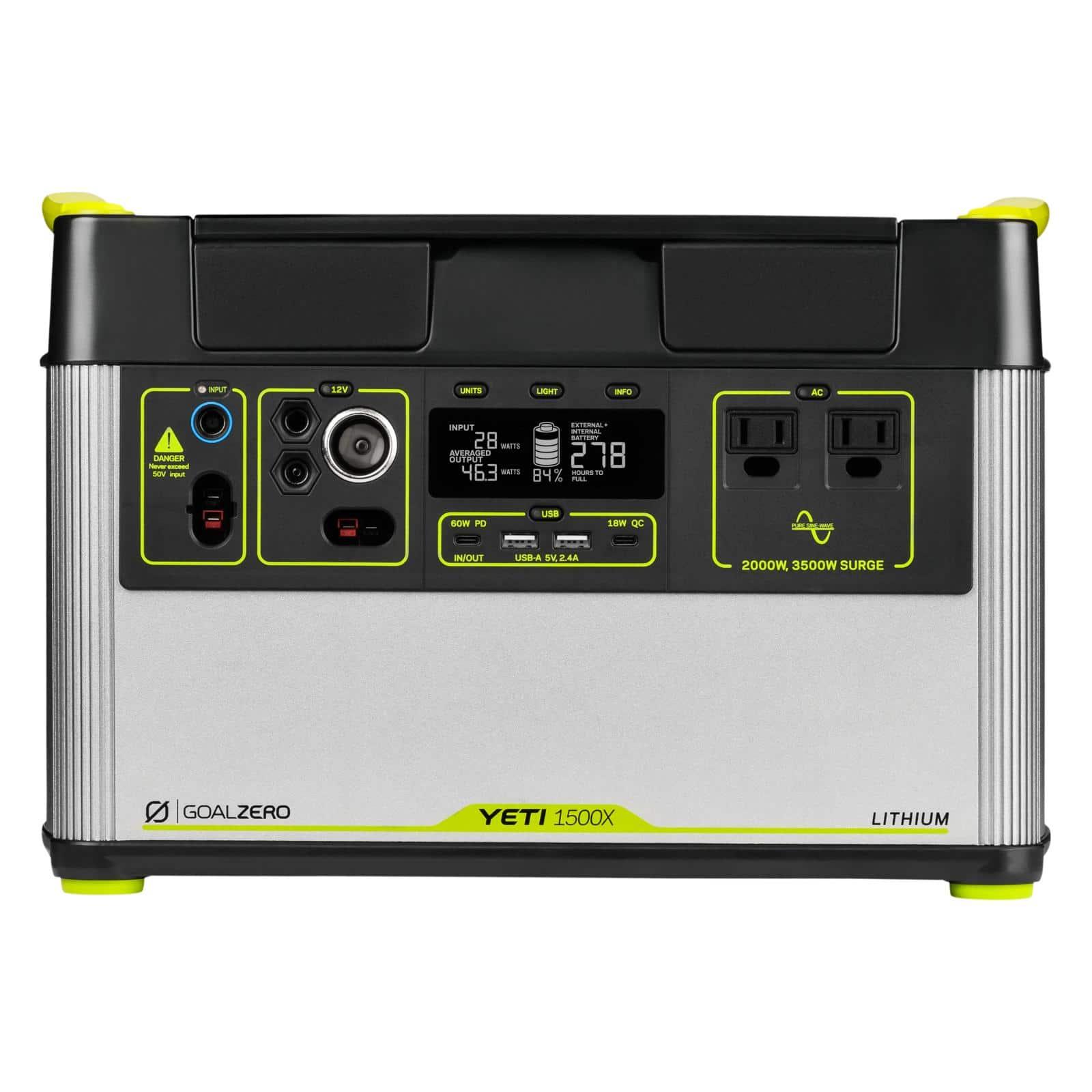 Goal Zero Yeti 1500X Lithium Ionen Power Pack